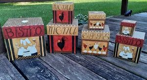 Bobs boxes by Lang Accents - Bob's boxes by Lang 'I LOVE to COOK' nesting boxes
